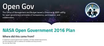 am agement bureau open space nasa on our 2016 opengov plan offers initiatives for