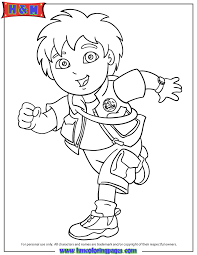 Go Diego Run Coloring Pages For Kids Printable