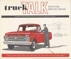 CC Brochure: 1966 Mercury Pickup Truck – For The Canadian Paul