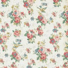 Download Vintage Rose Floral Wallpaper Shabby Chic Stock Image