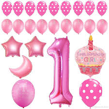 Pink White And Gold Birthday Decorations by 2017 First Birthday Decoration Pink White Gold Balloons Kit