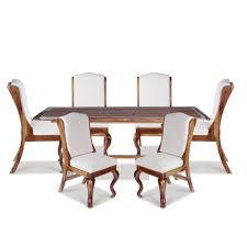 Paloma Solid Wood Six Seater Dining Set - Dining Tables ...