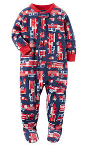 100 Fire Truck Pajamas Carters Carters Little Boys 1 Piece Truck Fleece 3