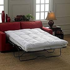 amazon com sleeper sofa mattress topper queen by improvements