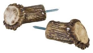 Deer Antler Curtain Rod Bracket by Replica Antler Curtain Rod Accessories Antler Base Curtain Rod