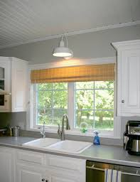 kitchen wall mounted light kitchen sink wooden ceiling