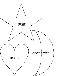 Coloring Page Of Heart Shape Pages Shapes Star