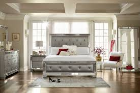American Signature Bedroom Sets by Angelina 6 Piece Queen Bedroom Set Metallic American Signature