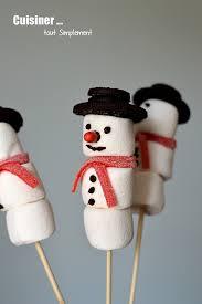 bricolage de noël sucette bonhomme de neige cuisiner tout