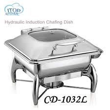 Hydraulic Induction Chafing Dish With 2 3GN Food Pan 6L Buffet Stove Pot Holloware Boiler Restaurant Cafeteria In Dinnerware Sets From Home Garden On