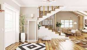 offener flur amerikanischer stil mit treppe und offenen