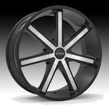 Cruiser Alloy 926MB Defiant Machined Black Custom Wheels Rims ...