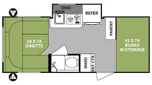 Travel Trailer Floor Plans With Bunk Beds by Michigan R Pod Rv Dealer R Pod Rv Sales