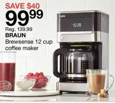 Home Outfitters Braun Brewsense 12 Cup Coffee Maker