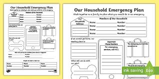 Get A Home Plan Free Household Emergency Plan