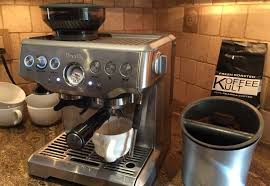 My Breville Barista Express Brewing Up One Of Favorite Coffee Beans Koffee Kult Dark Roast