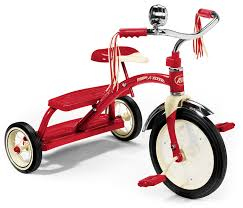 radio flyer 12 inch classic dual deck trike red amazon co uk