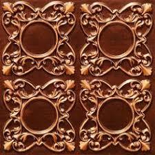 Decorative Ceiling Tiles 24x24 by 118 Faux Tin Ceiling Tile Glue Up 24x24 Antique Copper By
