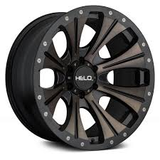 100 Helo Truck Wheels HELO HE901 Satin Black With Dark Tint Rims