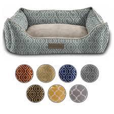 Bolster Dog Bed by Dog Cat Pet Beds Soft Fleece Orthopedic Bolster Nest Sofa Bed