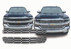 2016-2018 Chevy Silverado Chrome Mesh Grille Insert Overlay Trim LS ... 1956 Chevrolet Truck Corvette Grille Photo 1 Customgrilles Rvinyl New Options For The Silverado 1500 1947 Chevy Gmc Pickup Brothers Classic Parts Remington Edition Offroad 62017 Rigid Industries 52016 23500 With 30 12013 Led Kit Camburg Amazoncom Tac Custom Fit Chevy Silverado 2hd3500 Grilles By Year Beautiful Project 12 Gauge 2011 73 And Van Unique 2014 Front Grill 2 Of Naperville 0713 Stainless Steel Wire Mesh Packaged