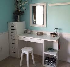 Linnmon Alex Desk Australia by Ikea Micke Desk With Integrated Storage As Vanity Desk With Alex