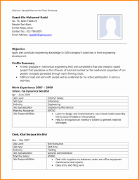 Diploma Mechanical Engineering Resume 9 Format Pdf For