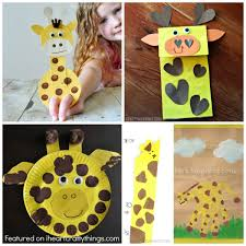 Giraffe Crafts Finger Puppets