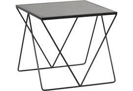bout de canapé noir bout de canapé carré moderne métal noir 60x60xh55cm hanjel 28464