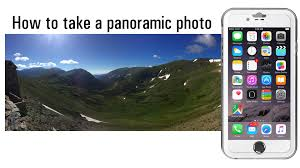 how to take a panoramic picture on iPhone