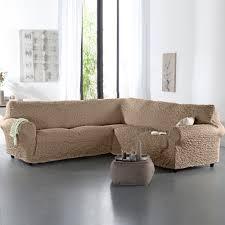 housse gaufrée bi extensible canapé d angle blancheporte