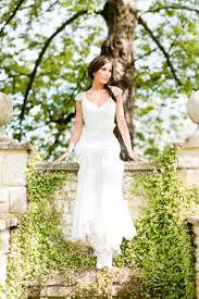 Rustic Lace Wedding Dress Sheath V Neckline Cap Sleeves Sash