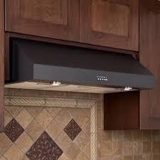 30 fente series stainless steel black under cabinet range hood
