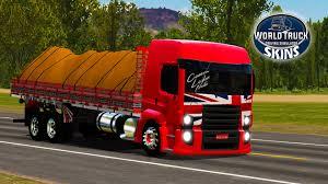 100 World Truck Simulator Skin VW Constellation Vermelho QUALIFICADO Com Detalhes Skins
