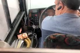 Bus Driver Fired For Watching Videos On Phone – The DriveSafe News Truckin In A 1962 Intertional Harvester Travelette Truck Driving School Videos Gezginturknet Driver Carelessly Crashes Into Trailer Of Other Jukin Video Paul Risslers Custom 96 Peterbilt 379 The Risslerbilt Schneider Trucking Jobs Find Truck Driving Jobs Dash Cam Video Drunk Semitruck Driver Swerving Best Ever Shirts Mens Tshirt Gift Ideas Popular Long Short Haul Otr Company Services Federal Garbage Song By Blippi Songs For Kids