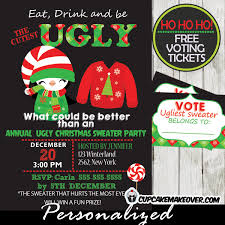 Printable Christmas Tacky Sweater Party Invitations Online