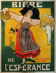Biere De LEsperance Vintage Beer Poster