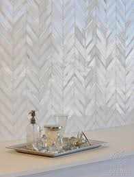 white marble herringbone tile backsplash interior designs