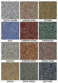 Quartz Epoxy Flooring Color Chart