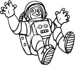 Art Image Black and White Astronaut