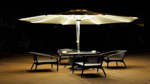 STRONG CAMEL 9 CANTILEVER SOLAR 40 LED LIGHT PATIO UMBRELLA
