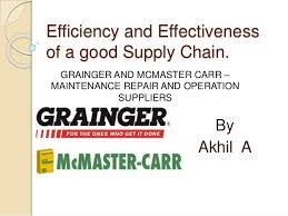 Efficiency And Effectiveness Of A Good Supply Chain By Akhil GRAINGER AND MCMASTER CARR