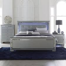 allura silver bedroom set adams furniture