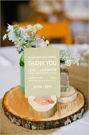 Pastel Blue And Green Wedding Center Piece With Thank You Cards