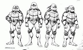Awesome Free Teenage Mutant Ninja Turtles Cartoon Coloring Pages Printable For Kids