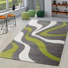 teppich grau grün weiß wohnzimmer teppiche modern mit konturenschnitt größe 120x170 cm