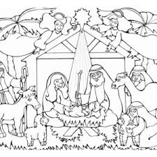 Nativity Born Of The King Jews In Coloring Page