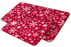 Red Bath Rug Set by Christmas Bathroom Rugs Home Design Ideas And Pictures