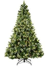 Pre Lit Flocked Christmas Tree Canada by Amazon Com Abusa Prelit Frosted Artificial Christmas Tree 7 5 Ft