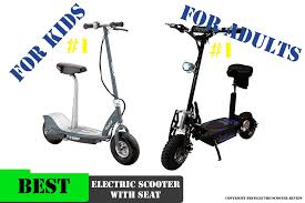 Best Electric Scooters With Seat